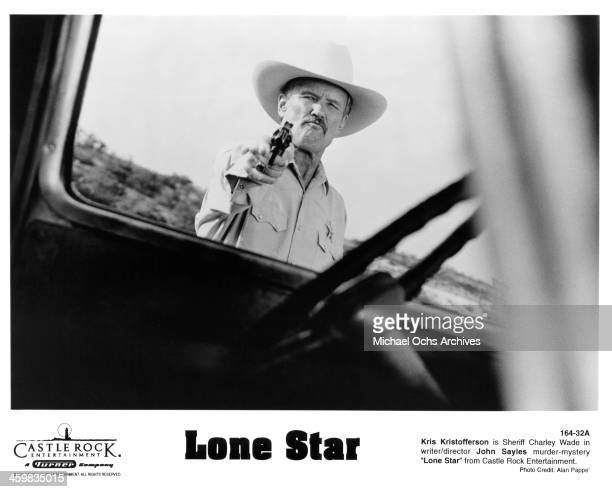 Actor Kris Kristofferson on set of the Castle Rock Entertainment movie 'Lone Star' circa 1996