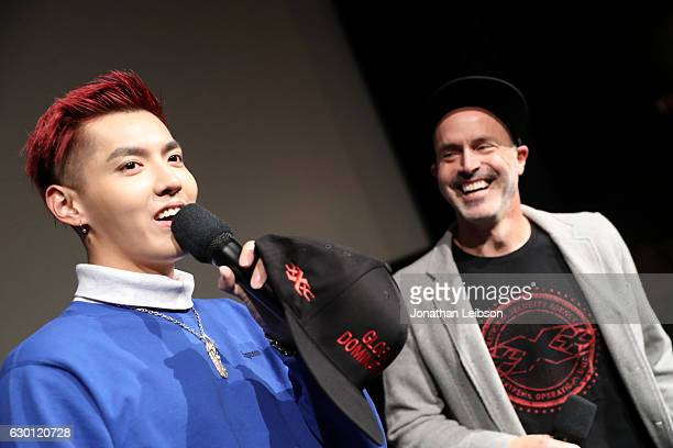 Actor Kris Wu and Director D J Caruso attend the LA Screening of Paramount Pictures 'xXx RETURN OF XANDER OF CAGE' at the Paramount Theatre on the...