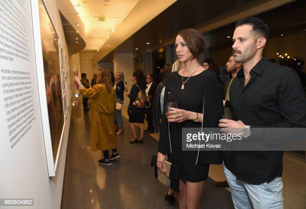 Actor Kristen Doute and Brian Carter at GENERATION WEALTH By Lauren Greenfield at Annenberg Space For Photography on April 6 2017 in Century City...