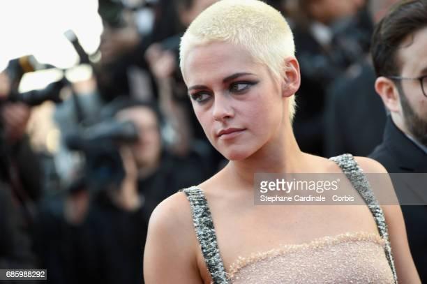 Actor Kristen Stewart attends the '120 Beats Per Minute ' premiere during the 70th annual Cannes Film Festival at Palais des Festivals on May 20 2017...
