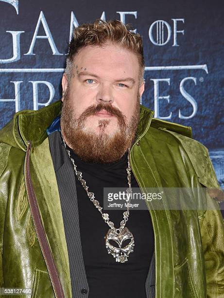 Actor Kristian Nairn arrives at the premiere of HBO's 'Game of Thrones' Season 6 at the TCL Chinese Theatre on April 10 2016 in Hollywood California