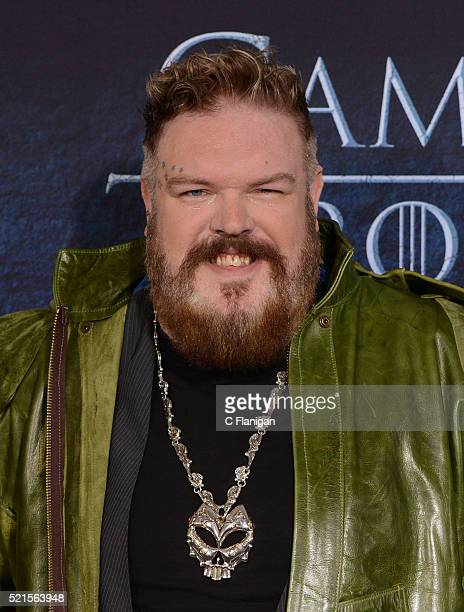 Actor Kristian Nairn arrives for the Premiere Of HBO's 'Game Of Thrones' Season 6 held at TCL Chinese Theatre on April 10 2016 in Hollywood California