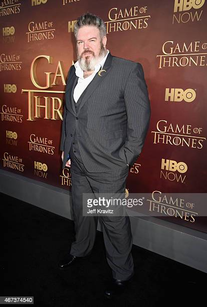 Actor Kristian Nairn attends HBO's 'Game of Thrones' Season 5 Premiere and After Party at the San Francisco Opera House on March 23 2015 in San...