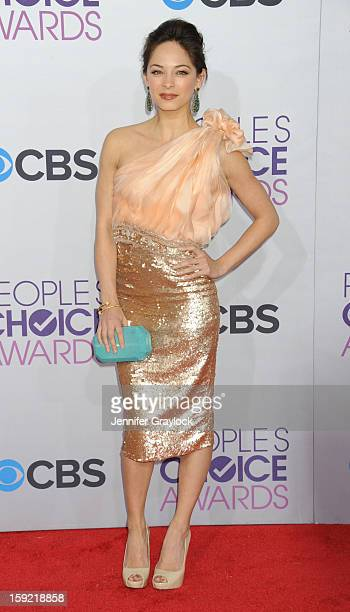Actor Kristin Kreuk attends the 2013 People's Choice Awards Arrivals held at Nokia Theatre LA Live on January 9 2013 in Los Angeles California