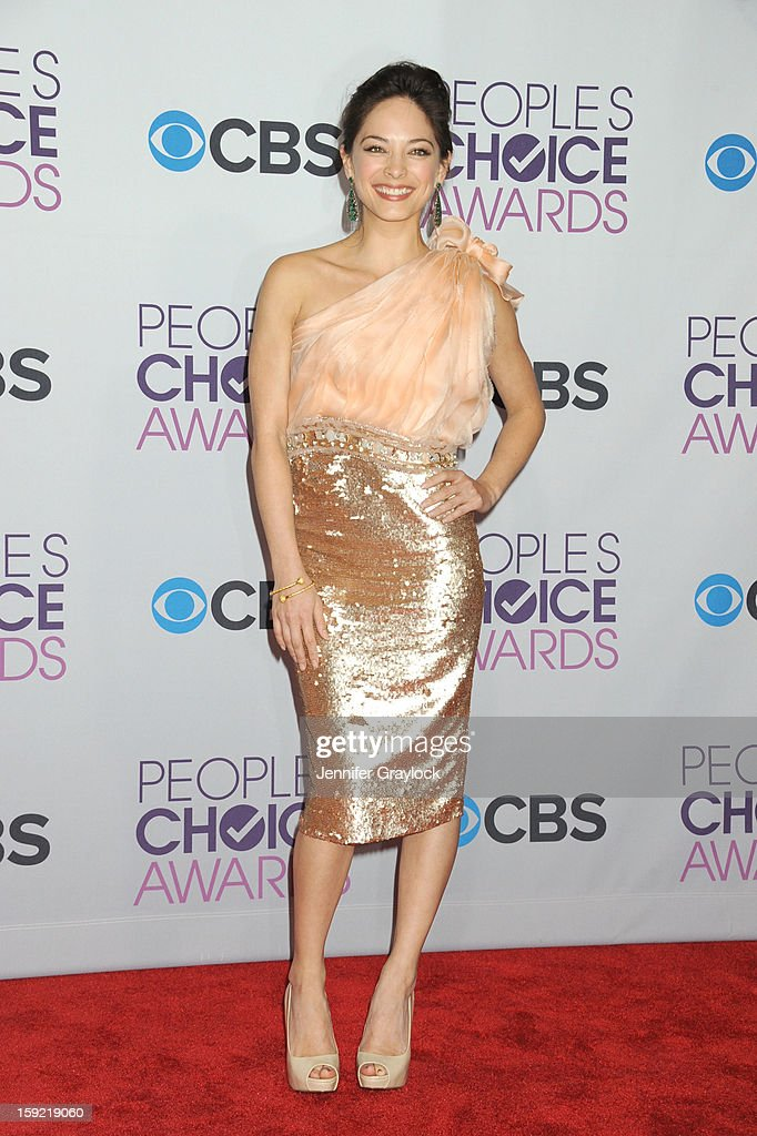 Actor Kristin Kreuk attends the 2013 People's Choice Awards Press Room held at Nokia Theatre L.A. Live on January 9, 2013 in Los Angeles, California.