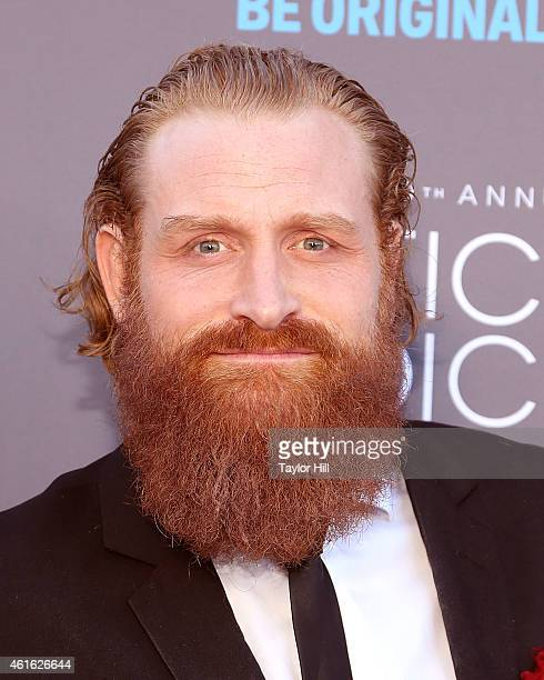 Actor Kristofer Hivju attends the 20th annual Critics' Choice Movie Awards at the Hollywood Palladium on January 15 2015 in Los Angeles California