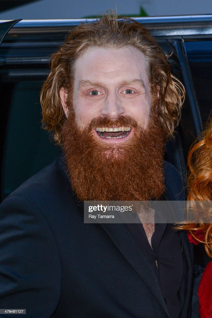 Actor Kristofer Hivju leaves a Midtown Manhattan hotel on March 18, 2014 in New York City.