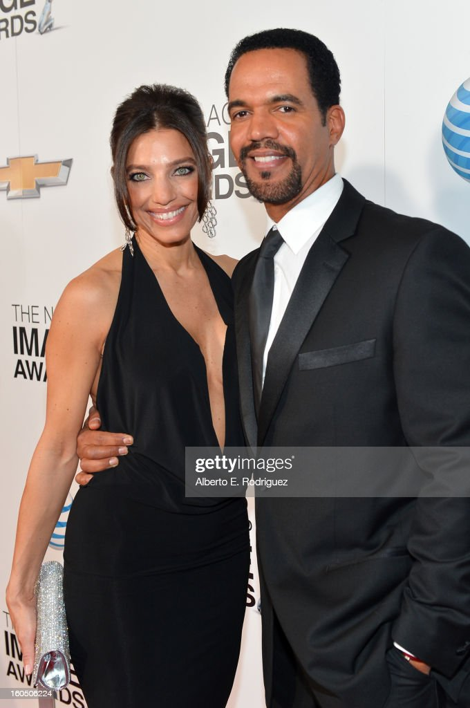 Actor Kristoff St. John (R) and guest attend the 44th NAACP Image Awards at The Shrine Auditorium on February 1, 2013 in Los Angeles, California.