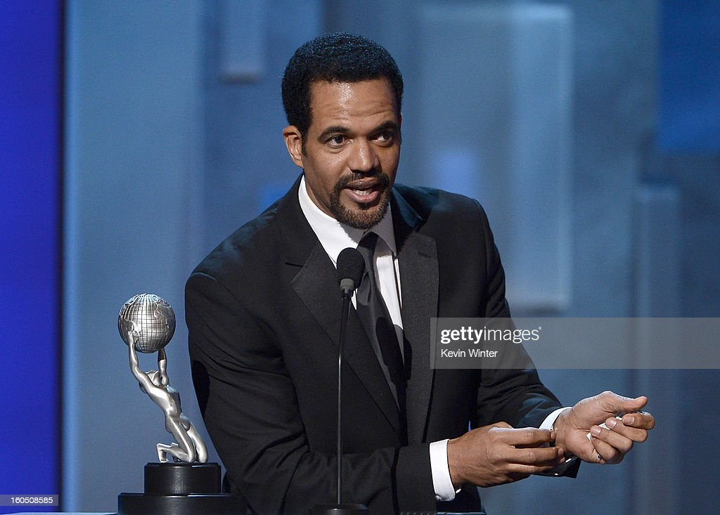 Actor <a gi-track='captionPersonalityLinkClicked' href=/galleries/search?phrase=Kristoff+St.+John&family=editorial&specificpeople=217523 ng-click='$event.stopPropagation()'>Kristoff St. John</a> onstage during the 44th NAACP Image Awards at The Shrine Auditorium on February 1, 2013 in Los Angeles, California.