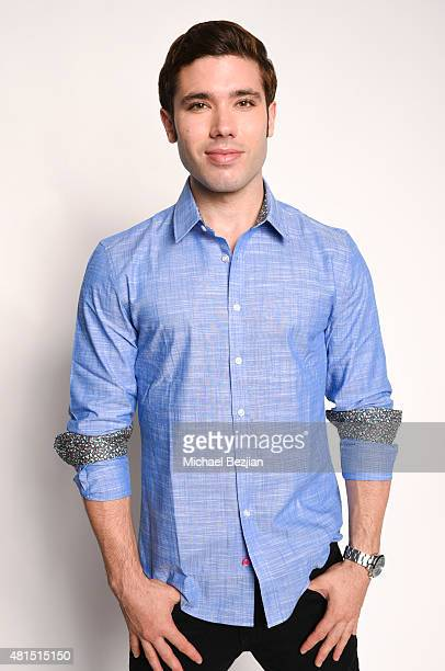 Actor Kristos Andrews poses for portrait at Moods Of Norway Hosts The SAP The Starving Artists Project on July 21 2015 in Los Angeles California