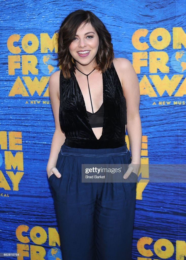 Actor Krysta Rodriguez attends the 'Come From Away' Broadway Opening Night - Arrivals & Curtain Call at Gerald Schoenfeld Theatre on March 12, 2017 in New York City.