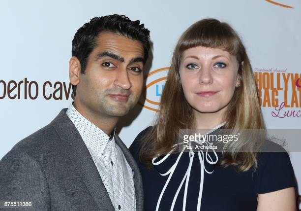Actor Kumail Nanjiani and Writer Emily V Gordon attend the Lupus LA 15th annual Hollywood Bag Ladies Lunch at The Beverly Hilton Hotel on November 17...