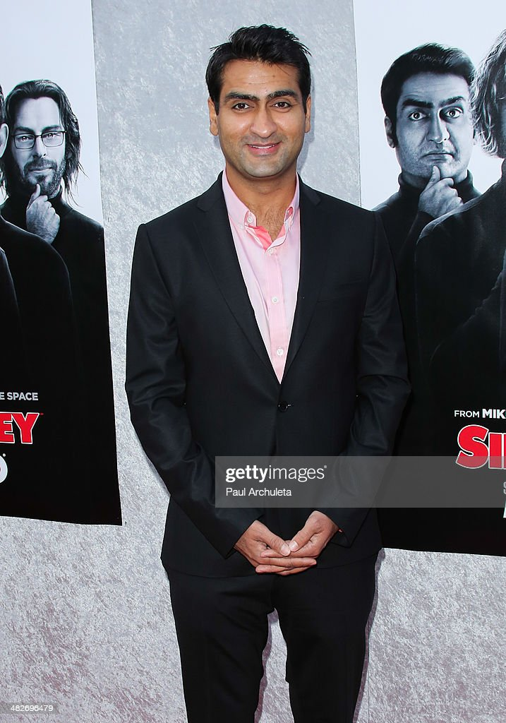 Actor Kumail Nanjiani attends the premiere of HBO's 'Silicon Valley' at Paramount Studios on April 3, 2014 in Hollywood, California.