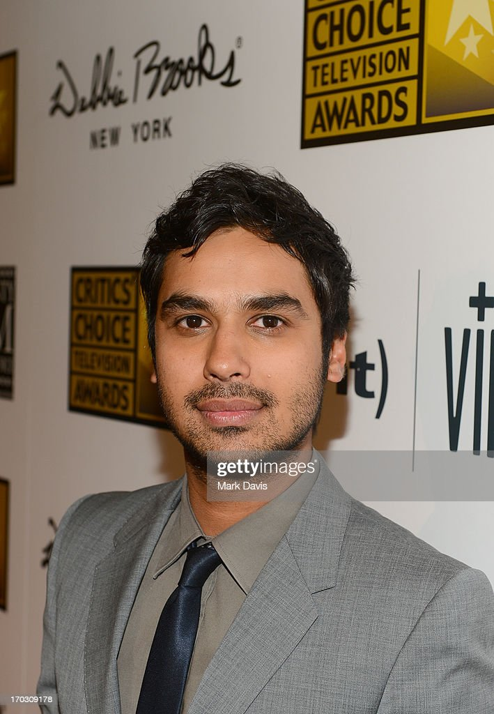 Actor <a gi-track='captionPersonalityLinkClicked' href=/galleries/search?phrase=Kunal+Nayyar&family=editorial&specificpeople=4414736 ng-click='$event.stopPropagation()'>Kunal Nayyar</a> arrives at Broadcast Television Journalists Association's third annual Critics' Choice Television Awards at The Beverly Hilton Hotel on June 10, 2013 in Los Angeles, California.