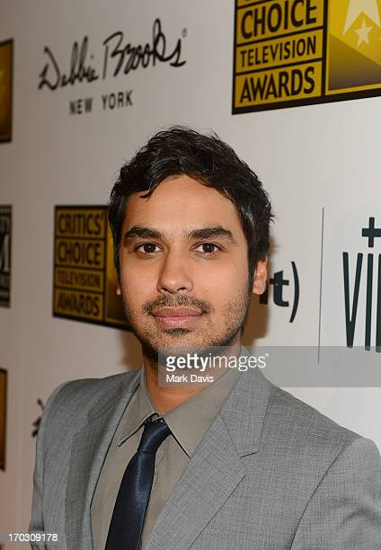 Actor Kunal Nayyar arrives at Broadcast Television Journalists Association's third annual Critics' Choice Television Awards at The Beverly Hilton...