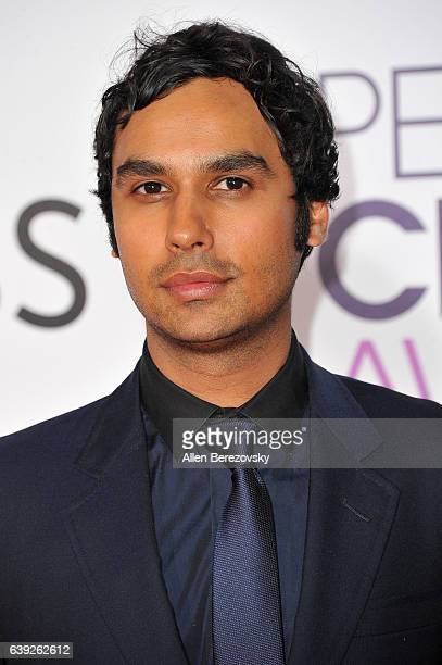 Actor Kunal Nayyar arrives at People's Choice Awards 2017 at Microsoft Theater on January 18 2017 in Los Angeles California