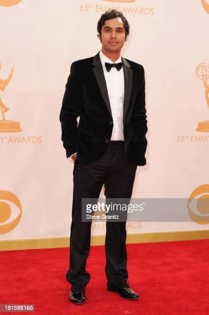 Actor Kunal Nayyar arrives at the 65th Annual Primetime Emmy Awards held at Nokia Theatre LA Live on September 22 2013 in Los Angeles California