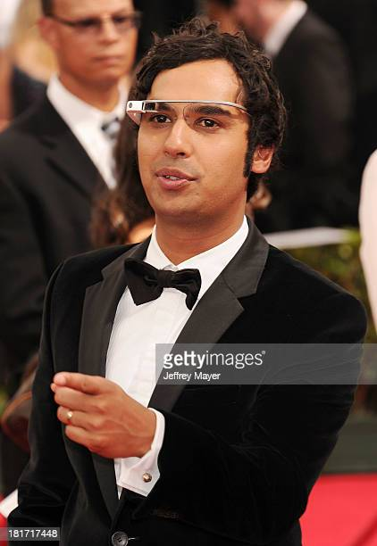 Actor Kunal Nayyar arrives at the 65th Annual Primetime Emmy Awards at Nokia Theatre LA Live on September 22 2013 in Los Angeles California