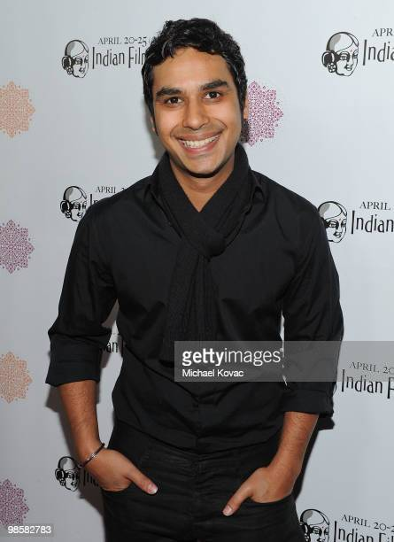 Actor Kunal Nayyar arrives at the opening night gala of the 8th Annual Indian Film Festival of Los Angeles at ArcLight Hollywood on April 20 2010 in...