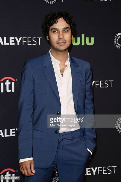 Actor Kunal Nayyar arrives at The Paley Center For Media's 33rd Annual PALEYFEST Los Angeles 'The Big Bang Theory' at Dolby Theatre on March 16 2016...