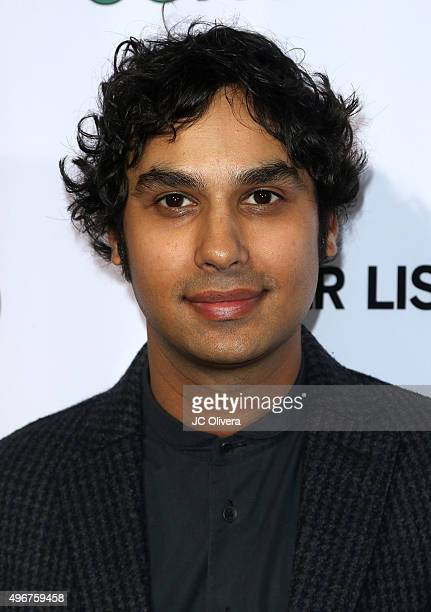Actor Kunal Nayyar attends at the premiere of Mister Lister Films' 'Consumed' at Laemmle Music Hall on November 11 2015 in Beverly Hills California