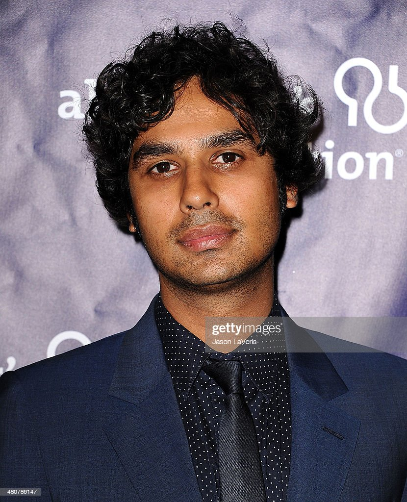 Actor <a gi-track='captionPersonalityLinkClicked' href=/galleries/search?phrase=Kunal+Nayyar&family=editorial&specificpeople=4414736 ng-click='$event.stopPropagation()'>Kunal Nayyar</a> attends the 22nd 'A Night At Sardi's' at The Beverly Hilton Hotel on March 26, 2014 in Beverly Hills, California.