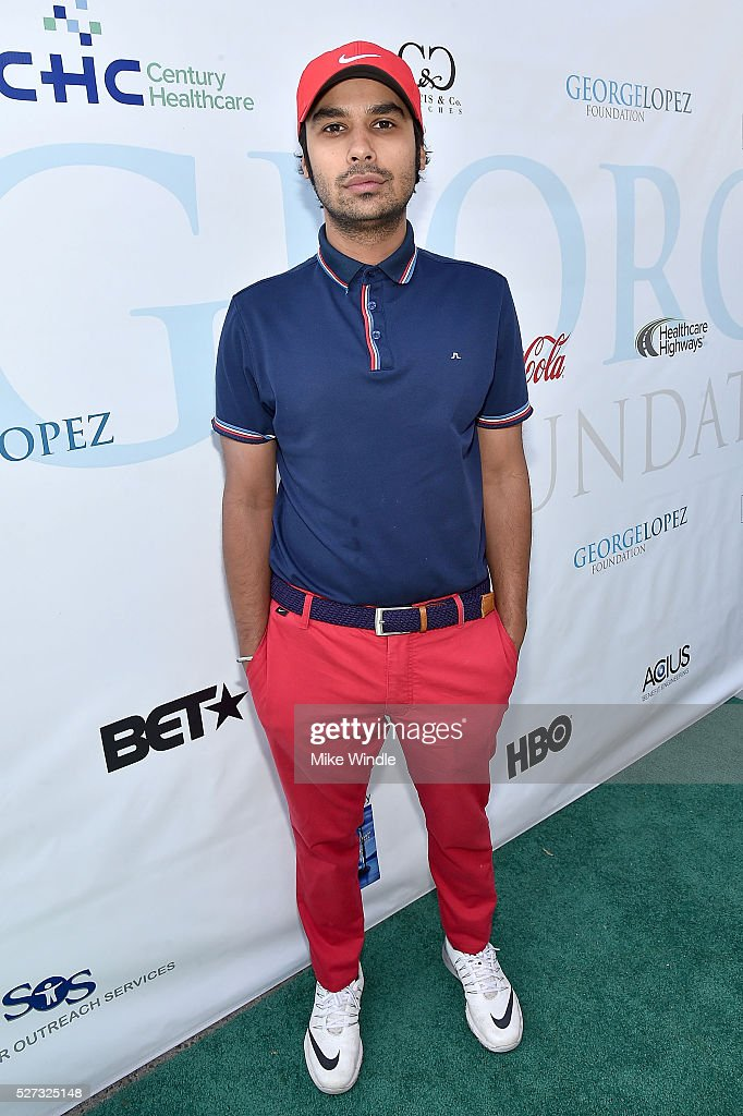 Actor Kunal Nayyar attends the 9th Annual George Lopez Celebrity Golf Classic to benefit The George Lopez Foundation at Lakeside Golf Club on May 2, 2016 in Burbank, California.