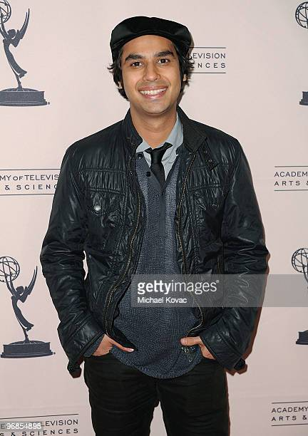 Actor Kunal Nayyar attends the Academy Of Television Arts Sciences' An Evening With 'The Big Bang Theory' at Leonard H Goldenson Theatre on February...