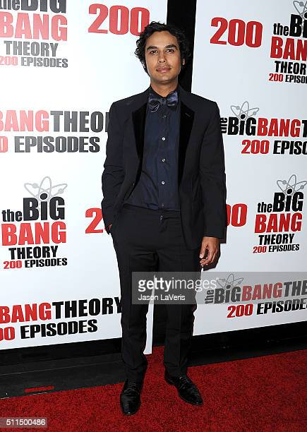 Actor Kunal Nayyar attends 'The Big Bang Theory' 200th episode celebration at Vibiana on February 20 2016 in Los Angeles California