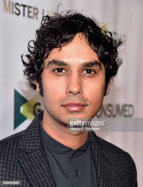 Actor Kunal Nayyar attends the Los Angeles premiere of Mister Lister Films' 'Consumed' at Laemmle Music Hall on November 11 2015 in Beverly Hills...