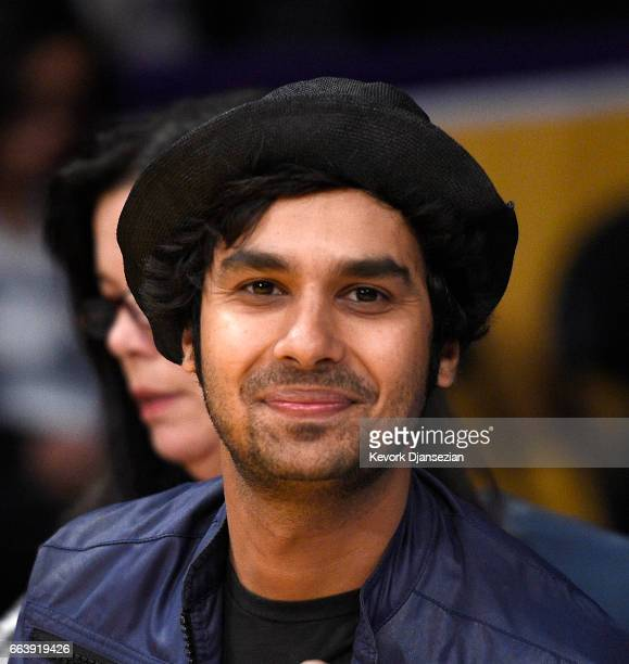 Actor Kunal Nayyar of 'The Big Bang Theory' attends Memphis Grizzlies and Los Angeles Lakers basketball game at Staples Center April 2 2017 in Los...