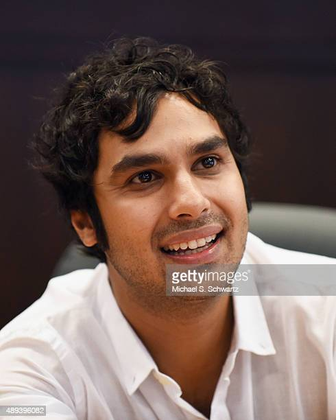 Actor Kunal Nayyar signs his new book 'Yes My Accent Is Real' at Barnes Noble at The Grove on September 20 2015 in Los Angeles California