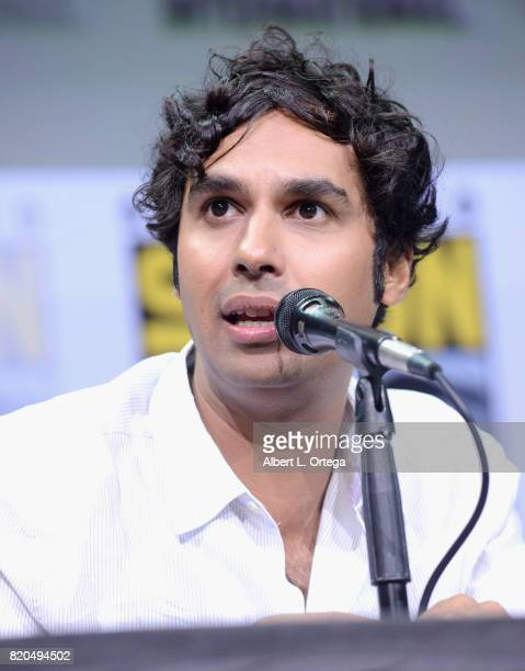 Actor Kunal Nayyar speaks onstage at ComicCon International 2017 'The Big Bang Theory' panel at San Diego Convention Center on July 21 2017 in San...
