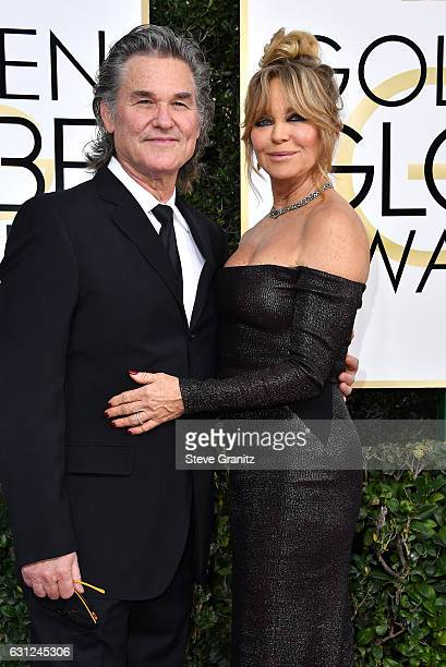 Actor Kurt Russell and actress Goldie Hawn attend the 74th Annual Golden Globe Awards at The Beverly Hilton Hotel on January 8 2017 in Beverly Hills...