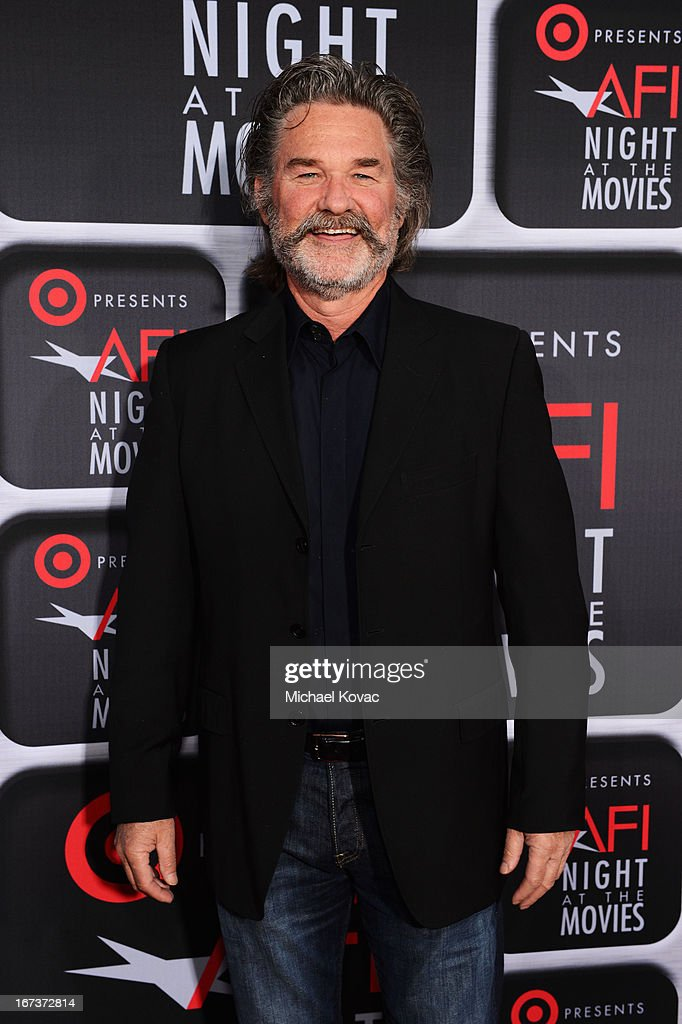 Actor <a gi-track='captionPersonalityLinkClicked' href=/galleries/search?phrase=Kurt+Russell&family=editorial&specificpeople=206294 ng-click='$event.stopPropagation()'>Kurt Russell</a> arrives on the red carpet for Target Presents AFI's Night at the Movies at ArcLight Cinemas on April 24, 2013 in Hollywood, California.