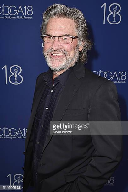 Actor Kurt Russell attends the 18th Costume Designers Guild Awards with Presenting Sponsor LACOSTE at The Beverly Hilton Hotel on February 23 2016 in...