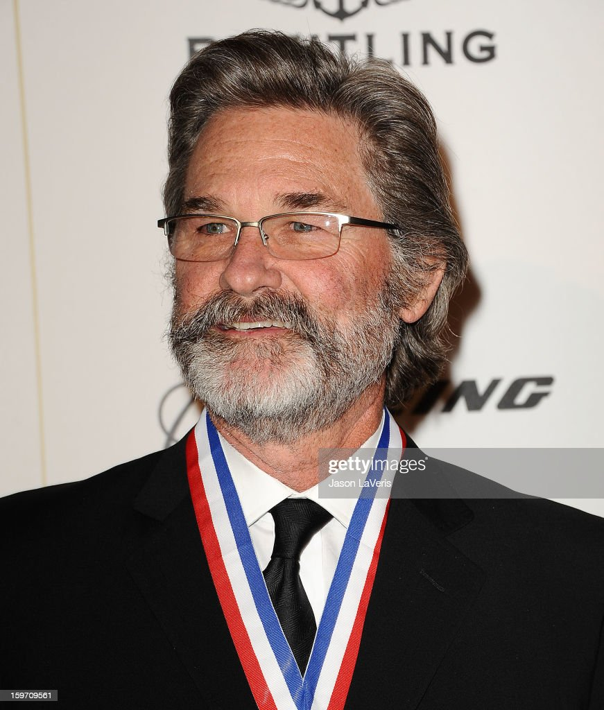 Actor <a gi-track='captionPersonalityLinkClicked' href=/galleries/search?phrase=Kurt+Russell&family=editorial&specificpeople=206294 ng-click='$event.stopPropagation()'>Kurt Russell</a> attends the Living Legends of Aviation Awards at The Beverly Hilton Hotel on January 18, 2013 in Beverly Hills, California.