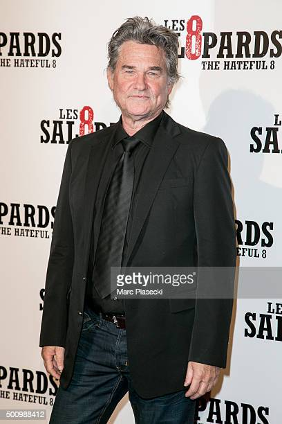 Actor Kurt Russell attends the 'The Hateful Eight' Premiere at Le Grand Rex on December 11 2015 in Paris France