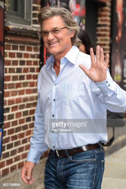 Actor Kurt Russell enters the 'Late Show With David Letterman' taping at the Ed Sullivan Theater on July 14 2014 in New York City