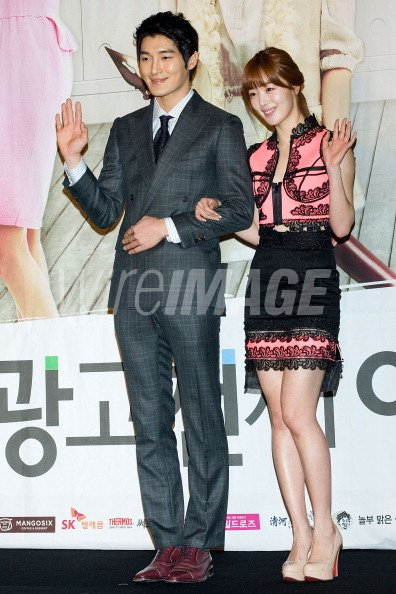 actor Kwak Hee Sung and Han Sun Hwa of South Korean girl group