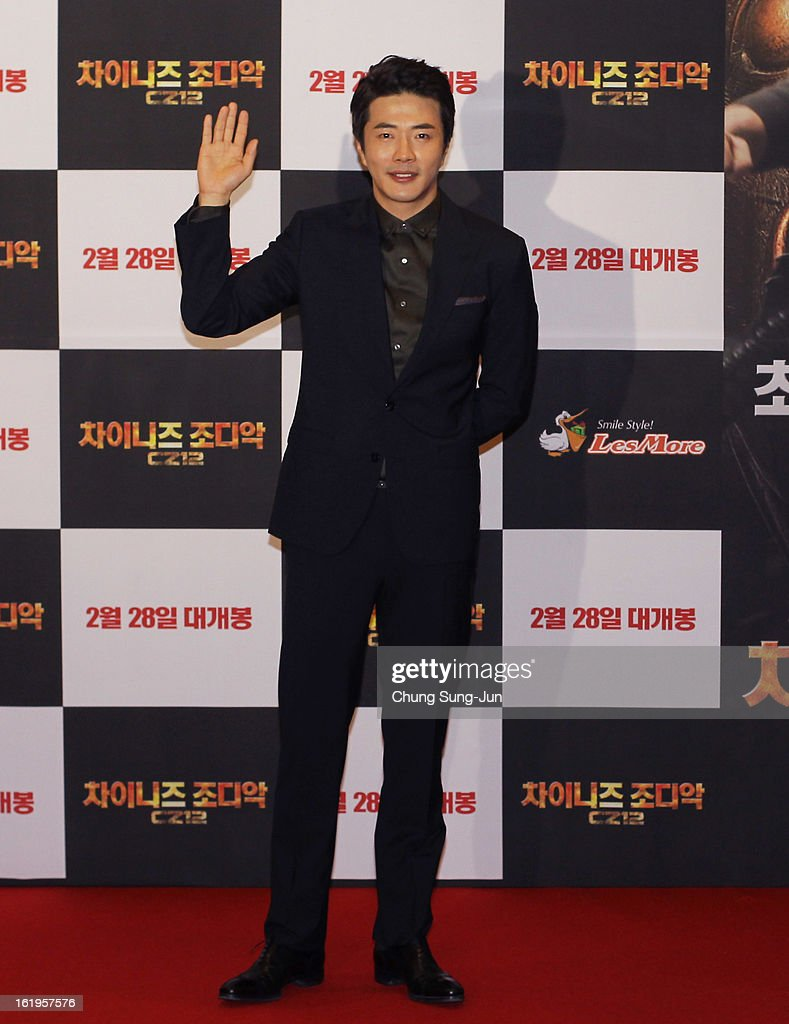 Actor Kwon Sang-Woo attends the 'Chinese Zodiac' Seoul Premiere at Lotte Cinema on February 18, 2013 in Seoul, South Korea. Jackie Chan is visiting South Korea to promote his recent film 'Chinese Zodiac' which will be released in South Korea on February 28.