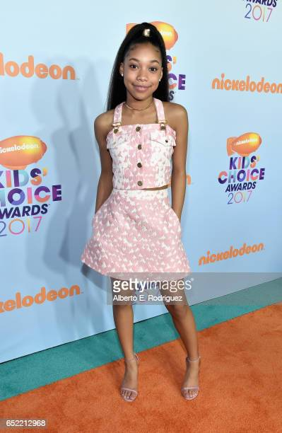 Actor Kyla Drew Simmons at Nickelodeon's 2017 Kids' Choice Awards at USC Galen Center on March 11 2017 in Los Angeles California