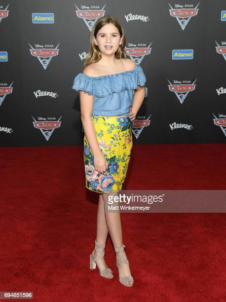 Actor Kyla Kenedy attends the premiere of Disney and Pixar's 'Cars 3' at Anaheim Convention Center on June 10 2017 in Anaheim California