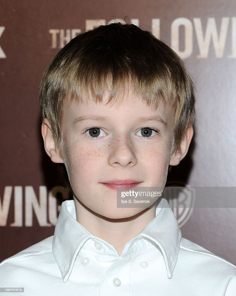 Actor Kyle Catlett attends 'The Following' World Premiere at The New York Public Library on January 18, 2013 in New York City.