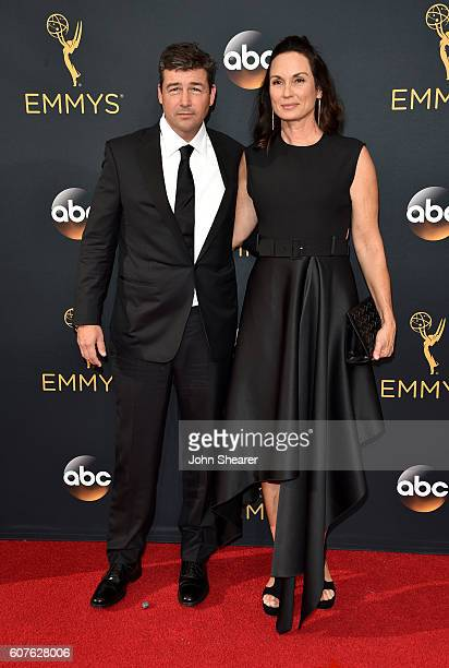 Actor Kyle Chandler and Kathryn Chandler arrive at the 68th Annual Primetime Emmy Awards at Microsoft Theater on September 18 2016 in Los Angeles...
