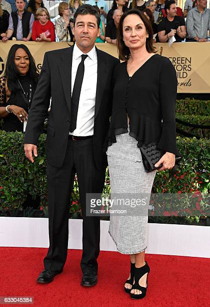Actor Kyle Chandler and Kathryn Chandler attend The 23rd Annual Screen Actors Guild Awards at The Shrine Auditorium on January 29 2017 in Los Angeles...