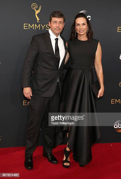 Actor Kyle Chandler and Kathryn Chandler attend the 68th Annual Primetime Emmy Awards at Microsoft Theater on September 18 2016 in Los Angeles...