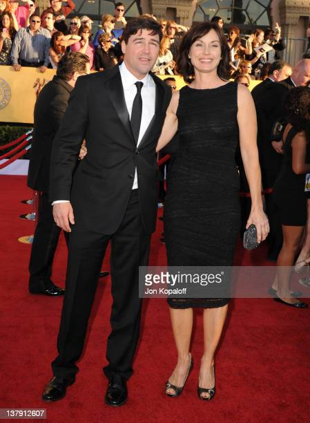 Actor Kyle Chandler and wife Kathryn Chandler arrive at the 18th Annual Screen Actors Guild Awards held at The Shrine Auditorium on January 29 2012...
