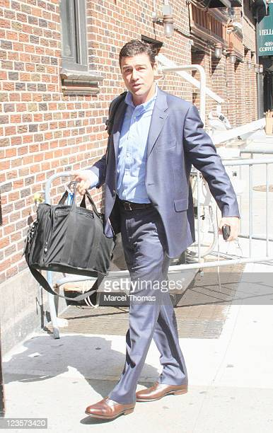 Actor Kyle Chandler is seen arriving at the 'Late Show With David Letterman' at the Ed Sullivan Theater on June 7 2011 in New York City