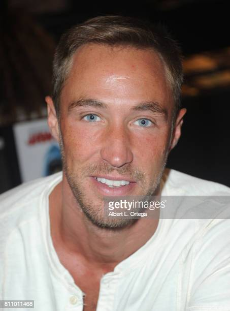 Actor Kyle Lowder signs autographs at The Hollywood Show held at Westin LAX Hotel on July 8 2017 in Los Angeles California